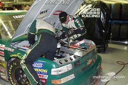 Inspection après la course