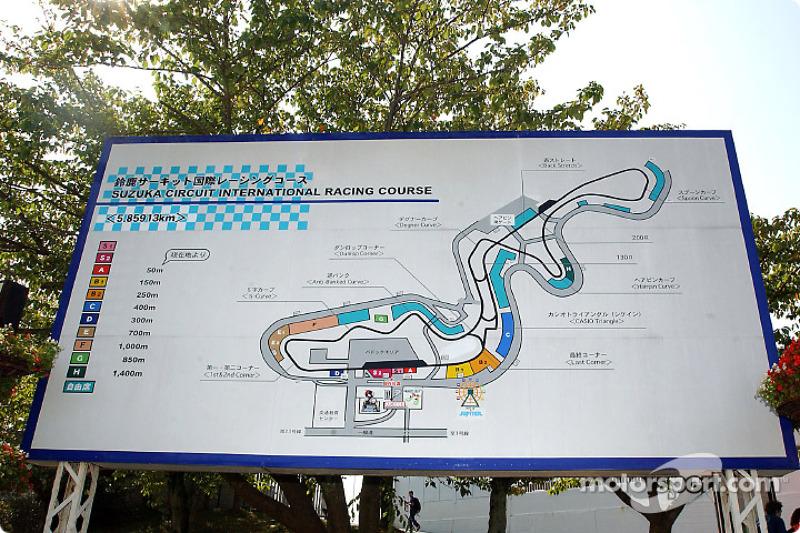 Suzuka é a única pista de todo o calendário da F1 com a primeira metade no sentido anti-horário e a segunda no sentido horário.