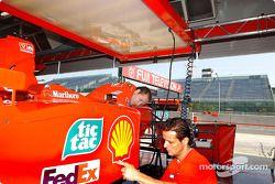 El garage de Ferrari