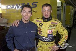 Takuma Sato y Jean Alesi
