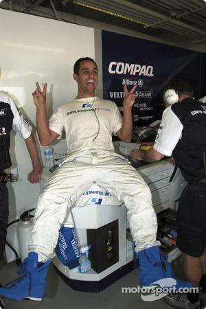 Un contento Juan Pablo Montoya