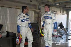 Juan Pablo Montoya y Ralf Schumacher