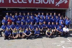 Sesión fotográfica del Prost Grand Prix