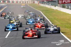 El inicio: Michael Schumacher frente a Juan Pablo Montoya y Ralf Schumacher