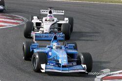 Giancarlo Fisichella y Jacques Villeneuve