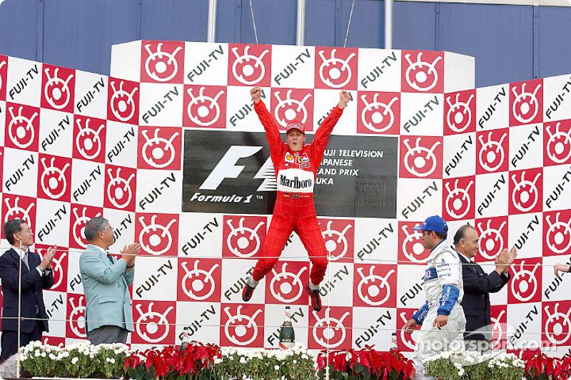 2001 Podium: 1. Мichael Schumacher, Ferrari. 2. Juan Pablo Montoya, Williams-BMW. 3. David Coulthard McLaren-Mercedes