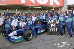 Sauber viert de vierde plaats in het constructeurskampioenschap