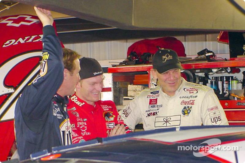 Rusty Wallace, Dale Earnhardt Jr. and Dale Jarrett