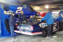 Cars are dried off for Monday's race