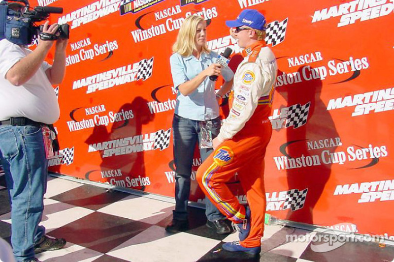 Race winner Ricky Craven