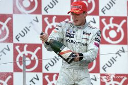 David Coulthard en el podio
