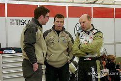 Olivier Panis y su ingeniero de carrera convertido en piloto de Fórmula Ford, David Lloyd
