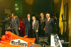 Milan, Teatro alla Scala: Michael Schumacher, Jean Todt ve Luca di Montezemelo