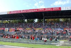 Los aficionados de Ferrari