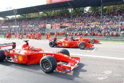 Michael Schumacher, Rubens Barrichello y Luca Badoer