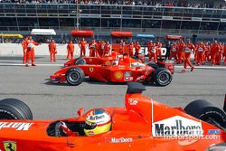 Luca Badoer, Rubens Barrichello et Michael Schumacher