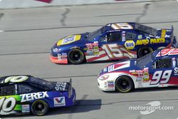 Johnny Benson, Michael Waltrip y Jeff Burton