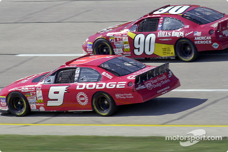 Bill Elliott y Hut Stricklin