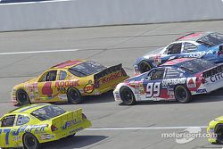 Robert Pressley, Bobby Hamilton Jr., Jeff Burton y Mark Martin