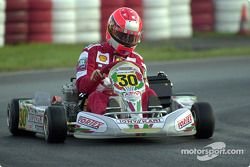 Michael Schumacher at the Karting World Championship in Kerpen