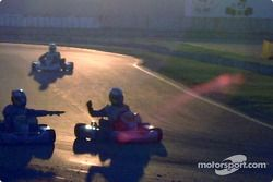 InterContinental A 100cc: on-track celebration at the end of the day