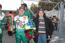 Matteo Bossini et un photographe de Motorsport.com, Donatella Di Giorgio