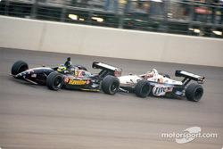 Last lap under yellow: Cristiano da Matta and Max Papis