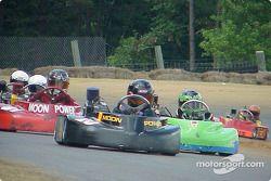 #10-Ryan Nicholas leads Briggs Junior Sportsman-1 Lite racers