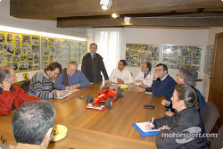 Ferrari's new gym: meeting with the press
