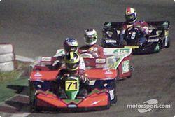 Felipe Giaffone, Pedro Araujo et Rubens Barrichello