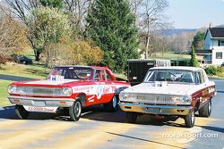 Voitures de course telles qu'elles étaient au milieu des années 60