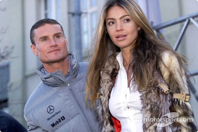 David Coulthard and his girlfriend Simone