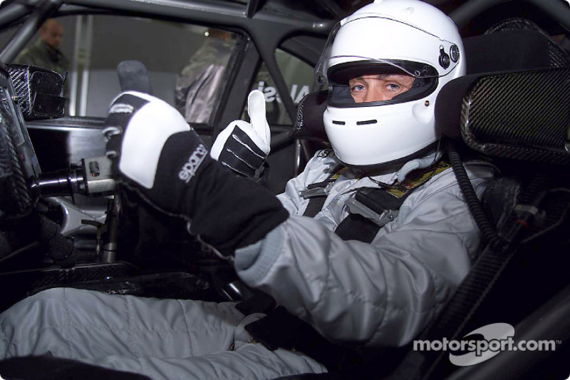 Jean Alesi testing the AMG Mercedes CLK-DTM at Hockenheim