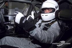 Jean Alesi probando el AMG Mercedes CLK-DTM en Hockenheim