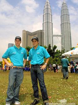 Nick Heidfeld en Felipe Massa
