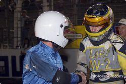 Michael Dowell et le poleman sortant Kerry Parnellís avant le Brigg & Stratton 300