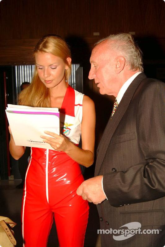 A Premier1 girl with Colin Sullivan