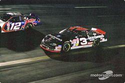Dale Earnhardt, Richard Childress Racing, Chevrolet Monte Carlo, Jeremy Mayfield, Penske-Kranefuss Racing, Ford Taurus