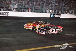 Dale Earnhardt, Richard Childress Racing, Chevrolet Monte Carlo, Bill Elliott, Bill Elliott Racing, Ford Taurus