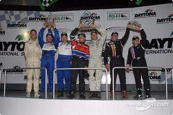 Terry Borcheller et Anthony Lazzaro fêtent leur première victoire lors de la finale Grand-Am