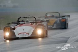 Andy Lally leads the #88 Porschehaus Nissan Lola