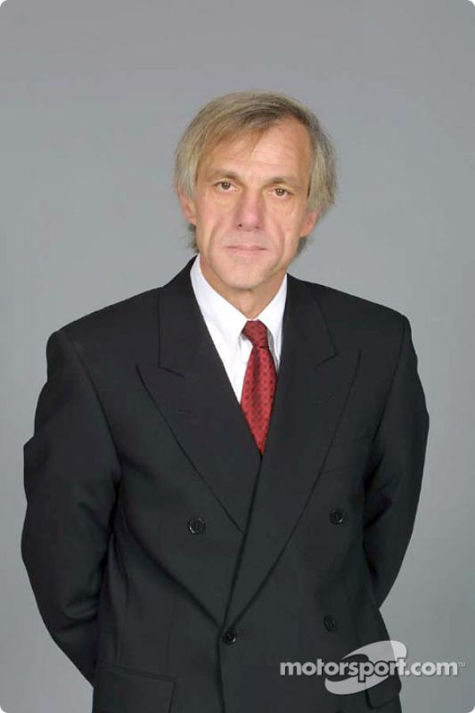 Chief designer Gustav Brunner