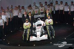 Jacques Villeneuve et Olivier Panis avec l'équipe BAR