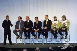 Interview avec David Richards, Toru Ogawa, Malcolm Oastler, Jacques Villeneuve et Olivier Panis
