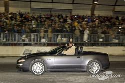 Michael Schumacher and Jean Todt driving the Maserati Spyder