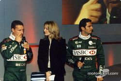 Eddie Irvine, Gaby Yorath y Pedro de la Rosa
