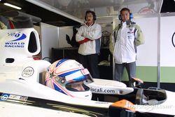 Ryo Fukuda et Anthony Davidson dans la voiture