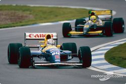 Nigel Mansell, Williams FW14B; Christian Fittipaldi, Minardi M191B
