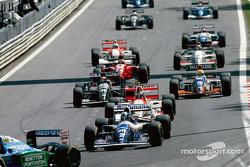David Coulthard bij de start