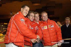 Cérémonie d'ouverture : Michael Schumacher, Luca Badoer, Luciano Burti et Rubens Barrichello
